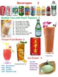 Tea, Beverages & Ice Cream