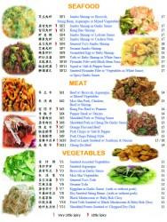 Seafood, Meat, Vegetables